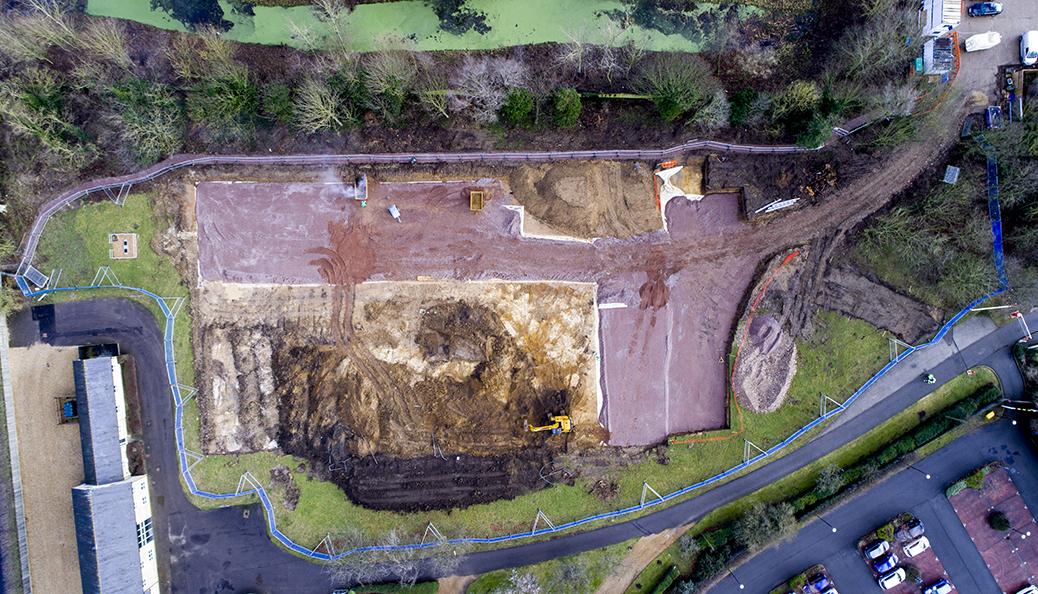 Construction Site Drone Images
